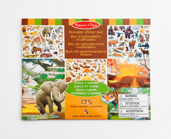 JUNGLE & SAVANNA REUSABLE STICKER PAD