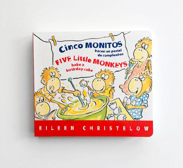 CINCO MONITOS HACEN UN PASTEL DE CUMPLEAÑOS - FIVE LITTLE MONKEYS BAKE A BIRTHDAY CAKE