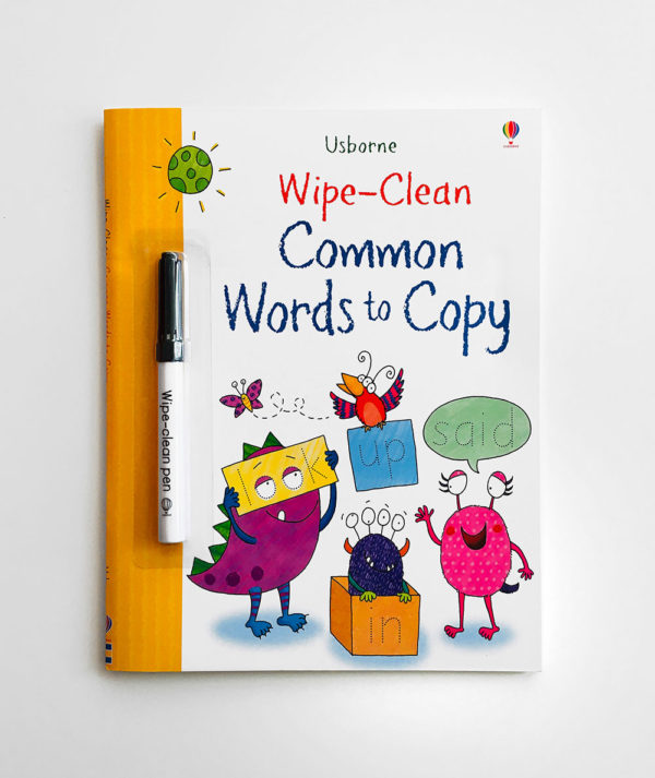 WIPE-CLEAN COMMON WORDS TO COPY