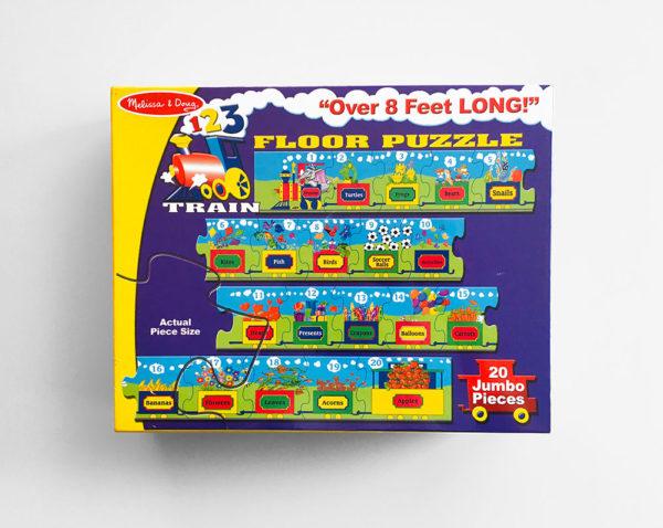 FLOOR PUZZLE: 123 COUNTING TRAIN (20 PIEZAS)